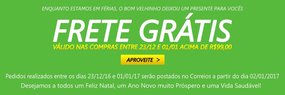 Frete Grátis Acima de R$99 Entre 23/12 a 01/01